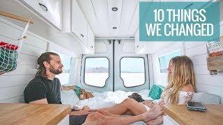 10 THINGS WE CHANGED IN OUR DIY VAN CONVERSION   Van Life   40 Hours of Freedom
