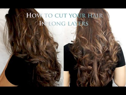 how to style my long hair how to cut your hair in layers at home 6493 | hqdefault