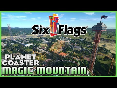 SIX FLAGS MAGIC MOUNTAIN!! Park Spotlight 10 #PlanetCoaster