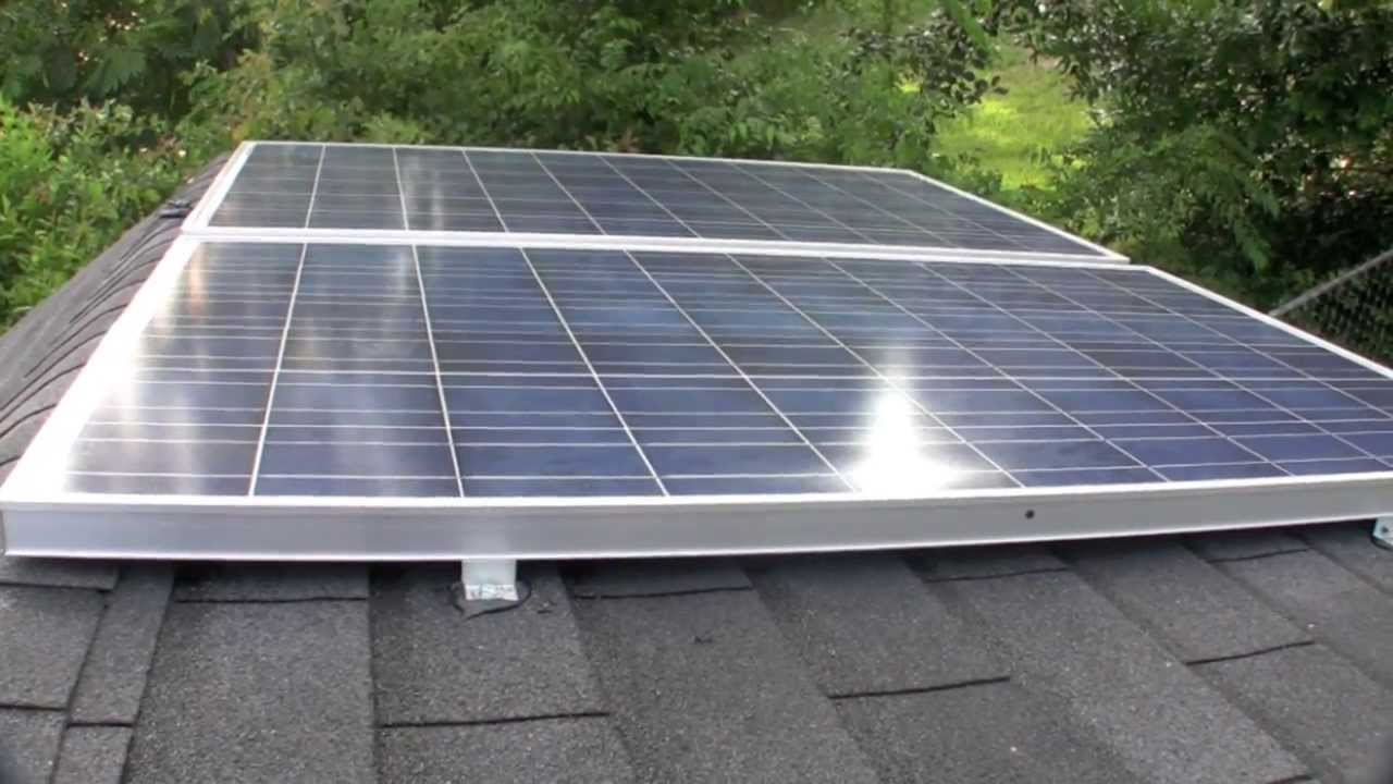 Shed Solar Panel Install Youtube