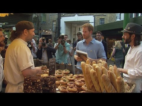 Prince Harry visits reopened Borough Market