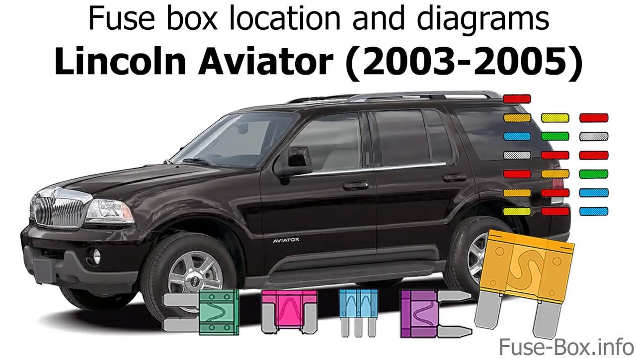 medium resolution of fuse box location and diagrams lincoln aviator un152 2003 2005