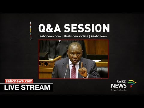President Ramaphosa answers questions in the National Assembly