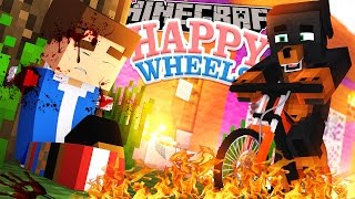 MINECRAFT HAPPY WHEELS, DONUT'S HOUSE IS DESTROYED!!!   - Little Donny Adventures.