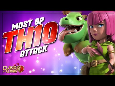 VERY STRONG ARMY FOR TOWN HALL 10! DESTROY EVERY BASE! BABY DRAGONS + EARTHQUAKE + QUEEN CHARGE!