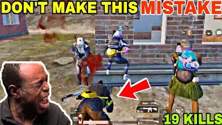 DON'T MAKE THIS MISTAKE WHILE USING DROP-SHOT • (19 KILLS) • PUBG MOBILE GAMEPLAY (HINDI)