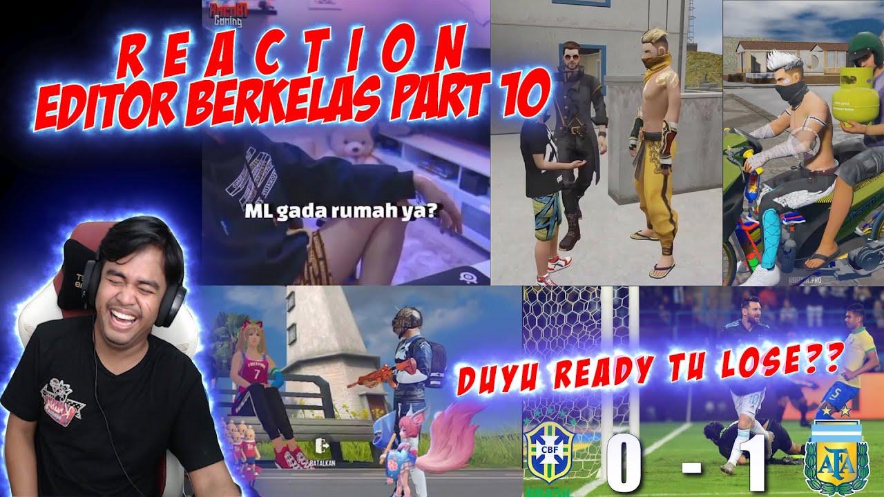BRAZIL DU YU REDI TULUS??! EH KALAH BENERAN || REACTION EDITOR BERKELAS PART 10