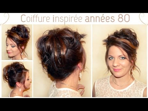 coiffure inspir e des ann es 80 l a hairstyle inspiration youtube. Black Bedroom Furniture Sets. Home Design Ideas