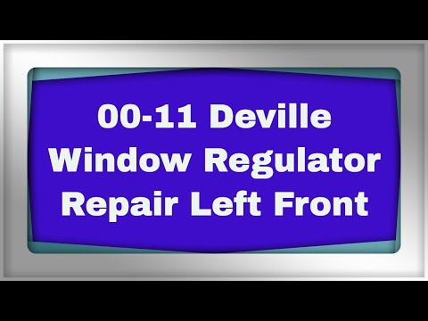 Deville Window Regulator Youtube