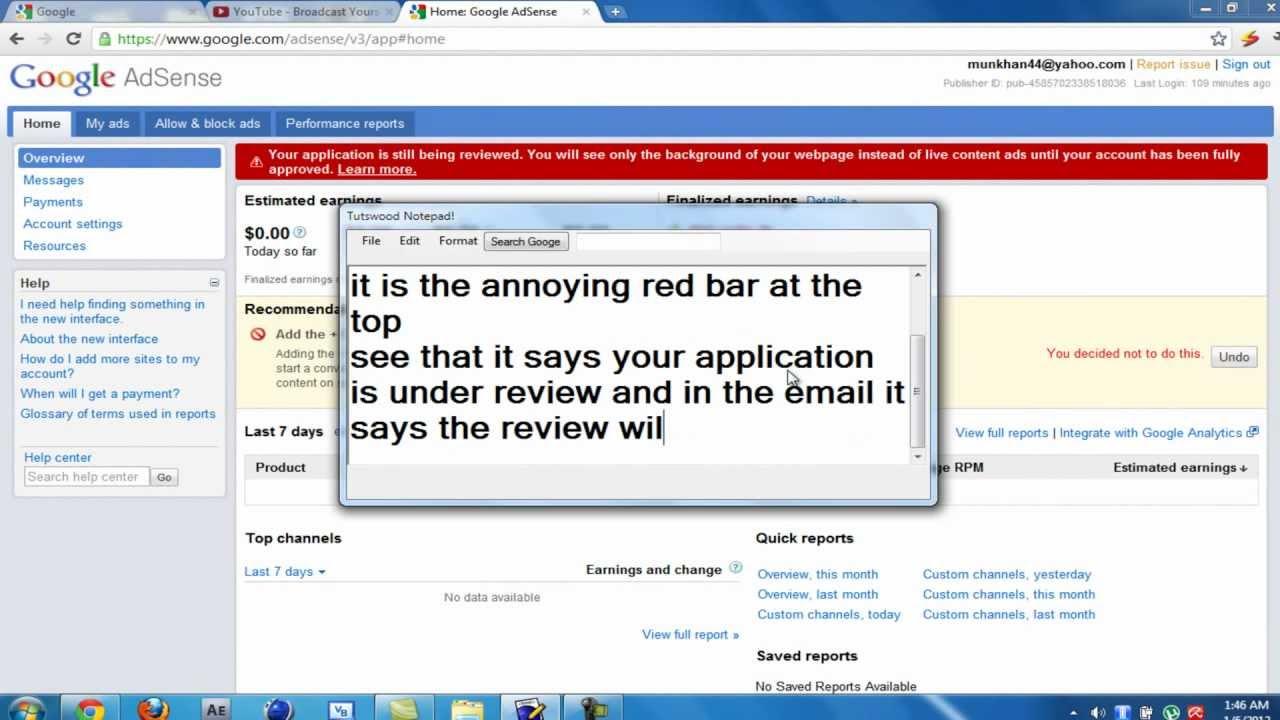 Google Adsense Search bar to your website- Adsense ...