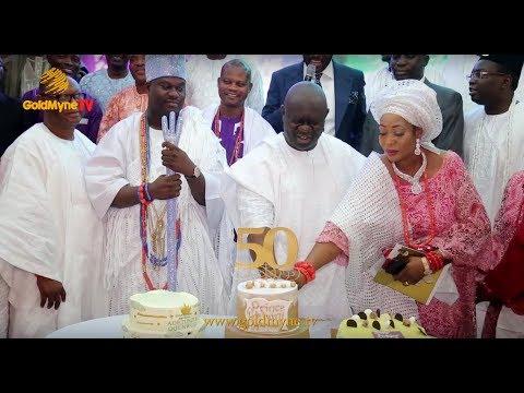 OONI OF IFE'S BROTHER, PRINCE ADETUNJI OGUNWUSI CELEBRATES 50TH BIRTHDAY IN GRAND STYLE