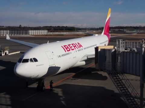 2017/01/14 Iberia 6800 Announcement: Tokyo Narita - Madrid