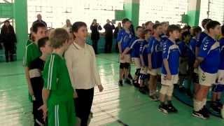 Открытие детского турнира по гандболу.