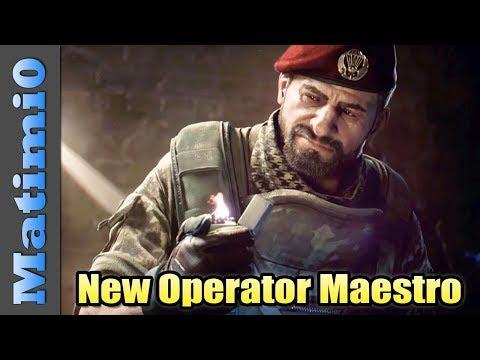 New Operator Maestro - Rainbow Six Siege DLC