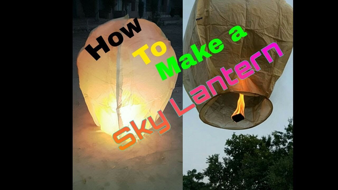 How to Make Sky Lantern at Home ( Sky Lamp ) - YouTube for Diwali Sky Lamp Making  59jwn