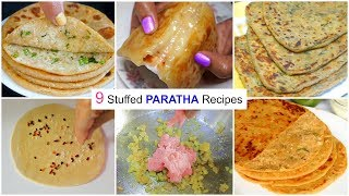 9 Stuffed PARATHA Recipes ... | #Breakfast #CookWithNisha screenshot 4
