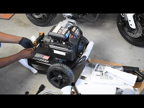 SIMPSON MegaShot 3200-PSI Gas Pressure Washer Unboxing, Setup, Review & Foam Cannon