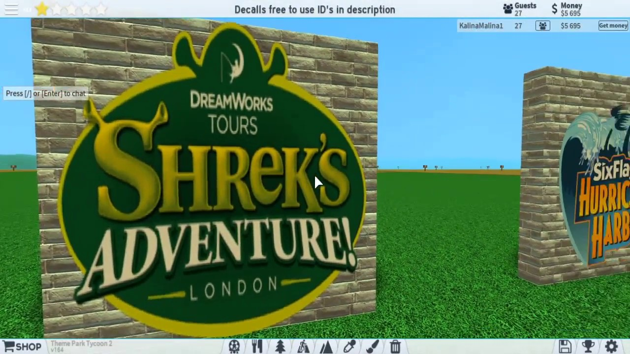 Decals For Theme Park Tycoon 2 Tpt2 Roblox Decals Youtube
