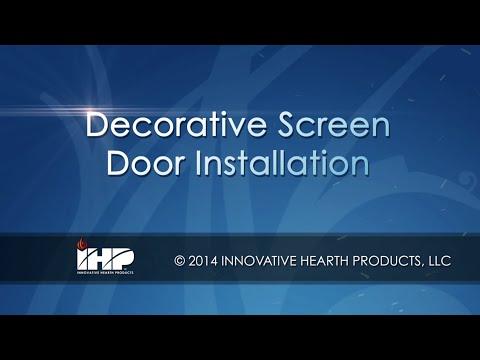 Decorative Screen Door Installation