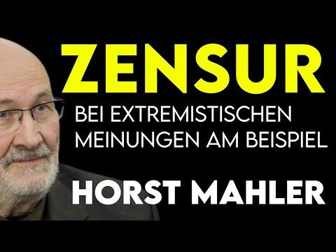 Zensur bei Extremistischen Meinungen am Beispiel Horst Mahler?