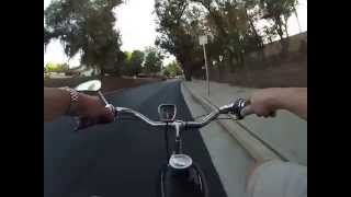 motorized bicycle ride.