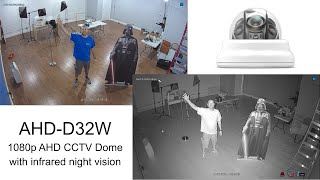 1080p HD Infrared Video Surveillance with Dome AHD CCTV Camera