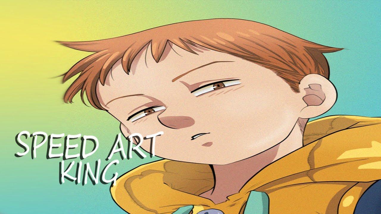 Colorindo Manga King Nanatsu No Taizai 1 Youtube