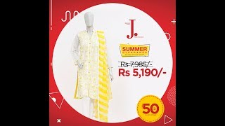 J . Junaid Jamshed Summer Clearance Sale - Upto 50% OFF 2017