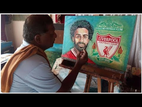 PIC, VIDEO: Durban artist's Mohamed Salah painting for Champions League final | IOL Sport