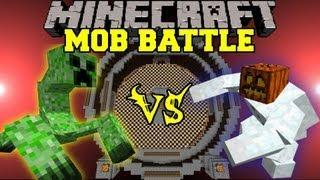 Mutant Creeper Vs Mutant Snow Golem - Minecraft Mob Battles - Mutant Creatures Mod