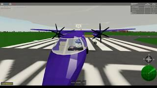 Roblox Pilot Flugtrainingssimulator Teil 1 Bombardier Q400 flybe Airlines.