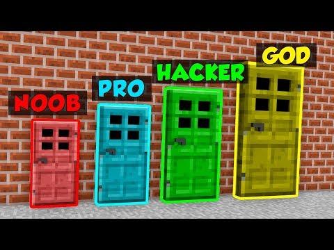 Minecraft NOOB vs. PRO vs. HACKER vs. GOD: DOORS in Minecraft! (Animation)