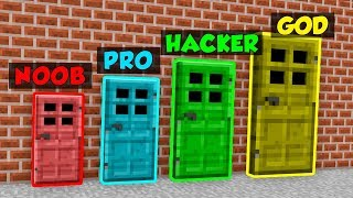 Minecraft NOOB vs. PRO vs. HACKER vs. GOTT: TÜREN in Minecraft! (Animation)