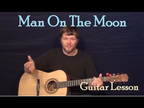Man On The Moon (Phillip Phillips) Guitar Lesson Strum Fingerstyle How to Play Tutorial