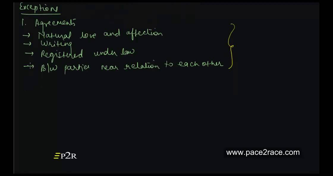 Exceptions Of No Contract No Consideration Part 1 Youtube