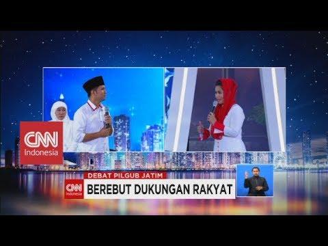 Debat Panas! Puti Sukarno Vs Emil Dardak - Debat Publik 1 Pilkada Jatim 2018
