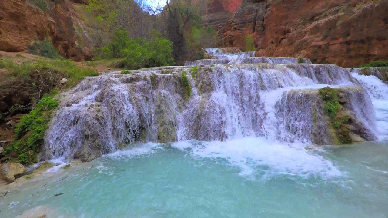 havasupai falls, arizona: hike, camp & waterfall - youtube