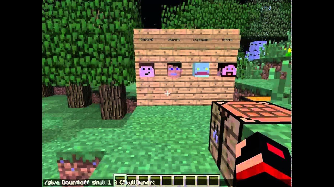 Minecraft Köpfe Bekommen DeutschNo Fake YouTube - Minecraft spieler kopfe geben command