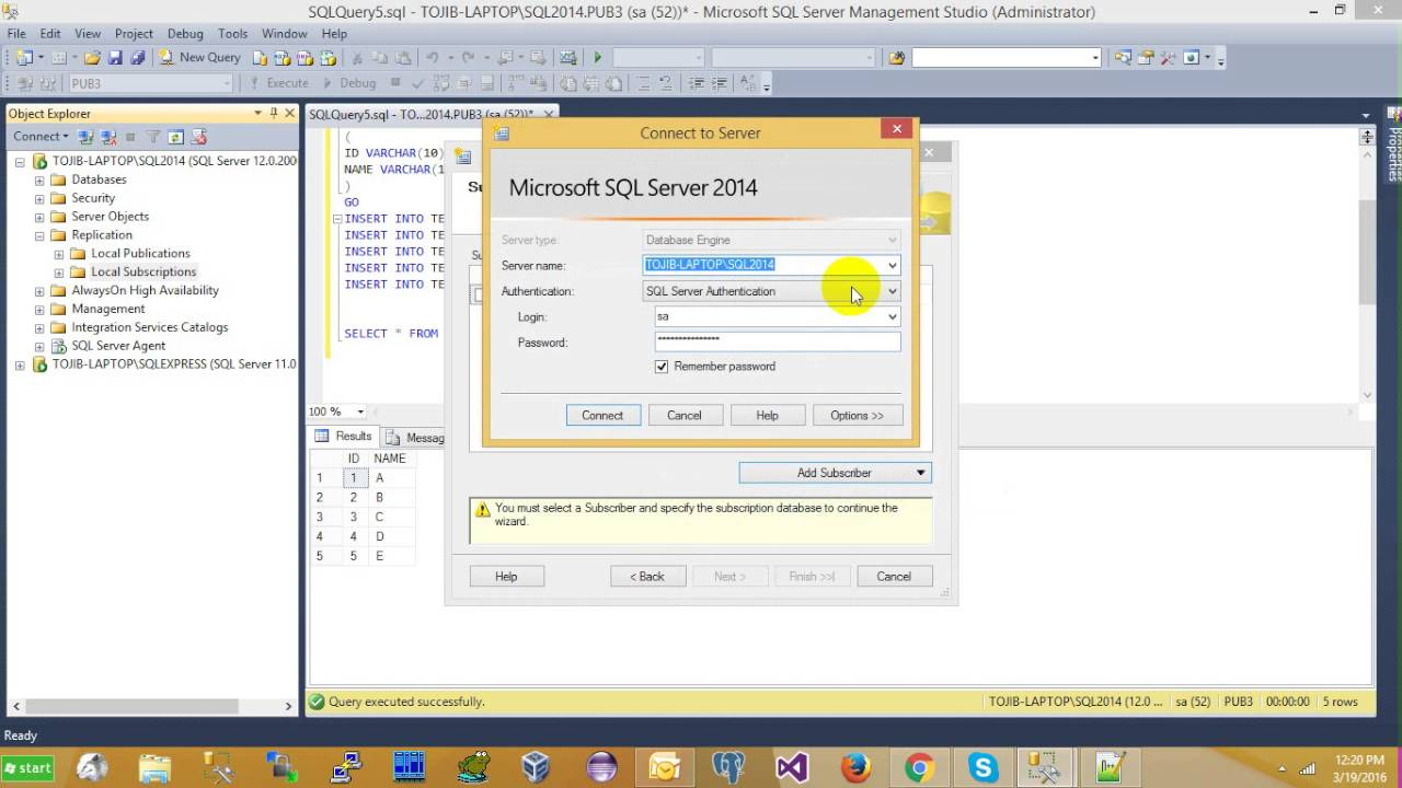 How To Do Sql Server Replication Step By Step With Example