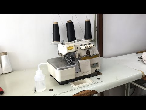 How To Thread An Overlock Industrial Machine Step By Step Full Video