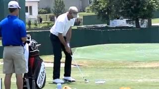 geoff ogilvy pga tour practicing his favorite golf drill baseball drill