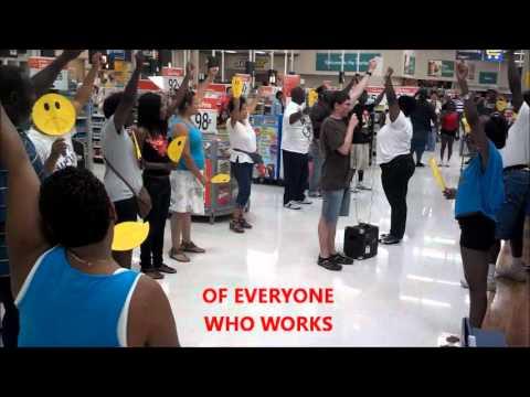 Flash Mob on Wal-Mart Lumberton, NC (UFCW Local 1208 Action) - YouTube