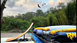 8 YEAR OLD vs BACKYARD MEGA RAMP!