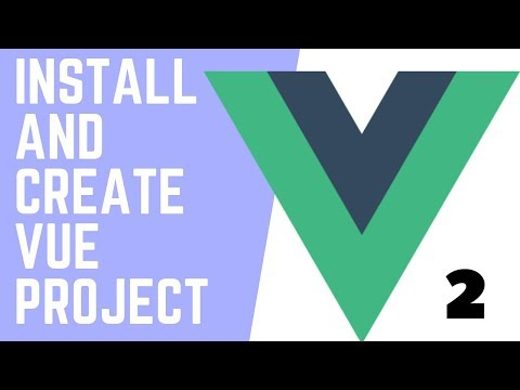 INSTALL AND CREATE VUE PROJECT   Html/Bootstrap Template to Vue JS App [ Updated 2019 ] Part - 2 thumbnail