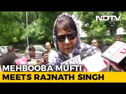 China Meddling In Kashmir, Says Mehbooba Mufti, Meets Rajnath Singh