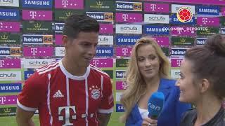 Primera Entrevista a James Rodriguez en Alemán