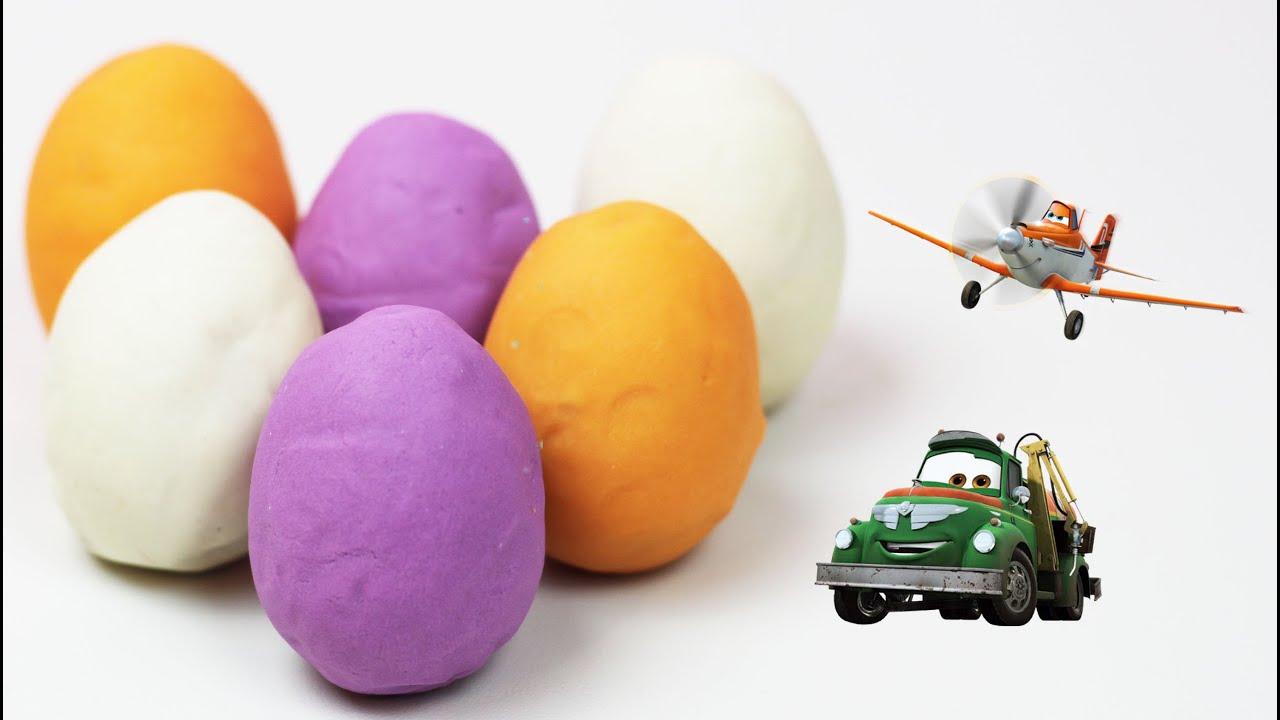 Play Doh Surprise Eggs Frozen Elsa Disney Planes Dusty