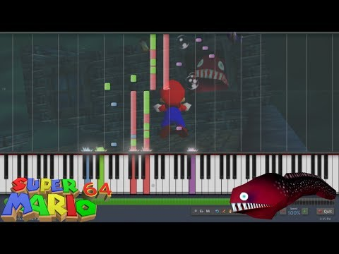Super Mario 64 - Dire, Dire Docks (Jolly Roger Bay) (Synthesia)