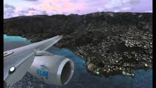FSX Fly over and Landing Madeira (Portugal) HD