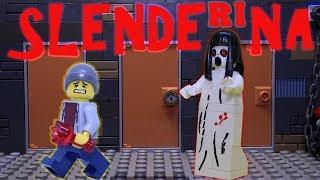 LEGO horror game movie Slendrina: Cellar...